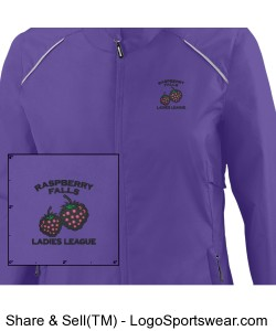 Light Weight Water Resistant Jacket in purple Design Zoom