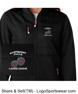 Quilted Top Fleece in black Design Zoom