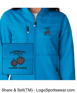 UltraClub Ladies Quilted Fleece Jacket Design Zoom