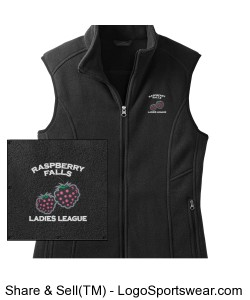 Eddie Bauer Fleece Vest in black Design Zoom