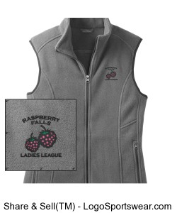 Eddie Bauer Fleece Vest in grey steel Design Zoom