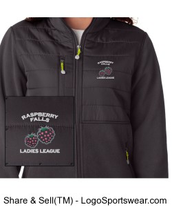 Quilted Top Fleece in charcoal Design Zoom